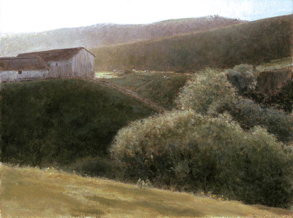 Landscape Art Print featuring the painting Sunrise Central California by Laura Wynne