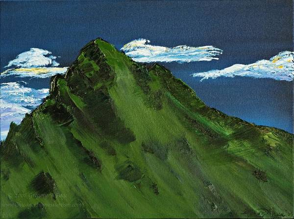 Switzerland Art Print featuring the painting Swiss Alp by Gregory Allen Page