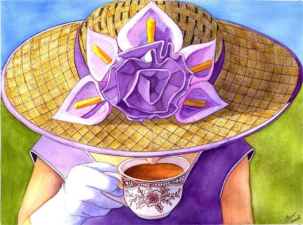 Tea Art Print featuring the painting Tea Party by Catherine G McElroy