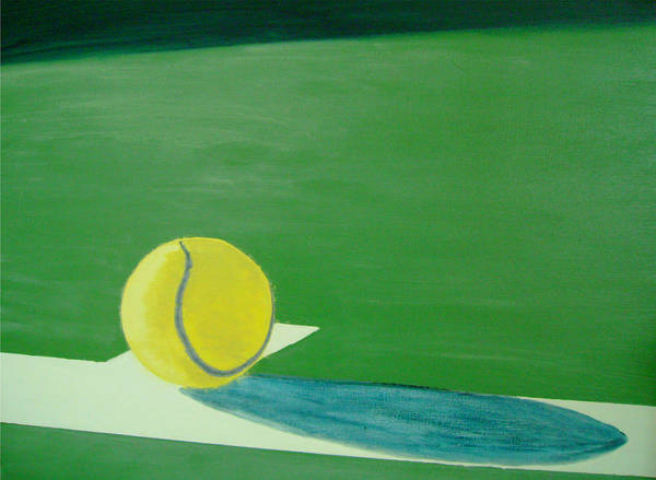 Tennis Art Print featuring the painting Tennis Reflections by Ken Pursley