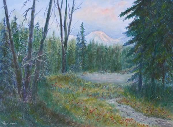 Landscape Art Print featuring the painting Teton Valley by Ben Kiger
