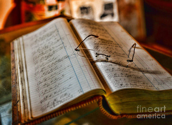 Accountant Art Print featuring the photograph The Accountant's Ledger by Paul Ward