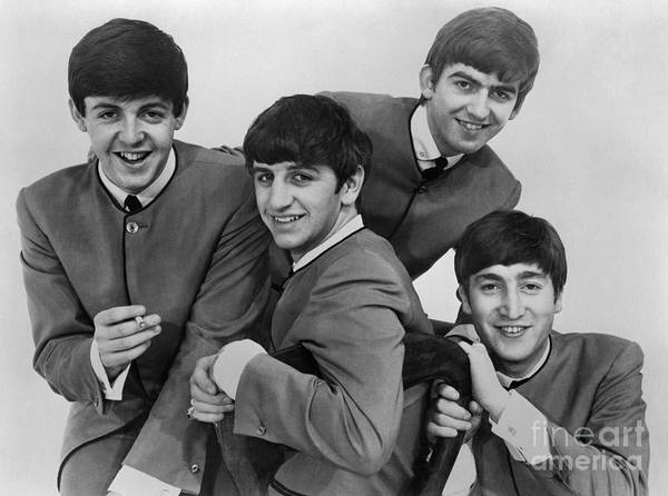 1963 Print featuring the photograph The Beatles, 1963 by Granger