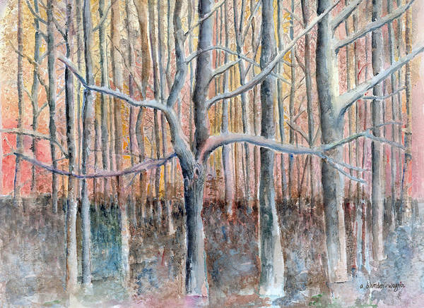 Forest Art Print featuring the painting The Forest For The Trees by Arline Wagner