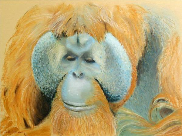 Orangutan Art Print featuring the painting The Good Life by David Horning