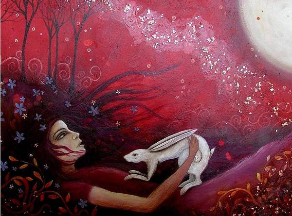 Acrylic Print featuring the painting The Messenger by Amanda Clark