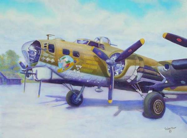 B-17 Art Print featuring the painting The Nine O Nine by Scott Robertson