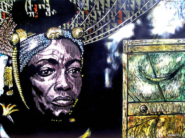 Art Print featuring the mixed media The Promise Keeper by Chester Elmore