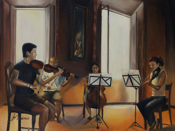 Oil Art Print featuring the painting The Rehearsal by Leah Wiedemer