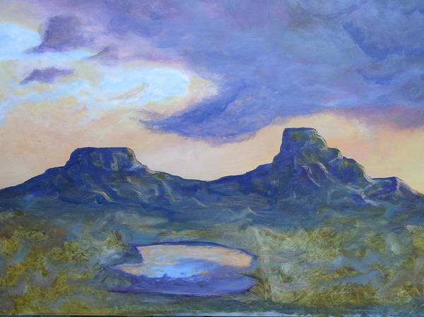 Landscape Art Print featuring the painting The Rez After The Rain- Commision For Nigel And Laura by Ernie Scott- Dust Rising Studios