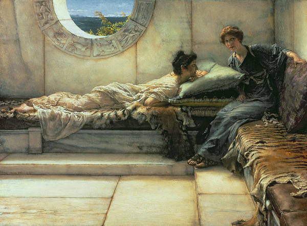 The Art Print featuring the painting The Secret by Sir Lawrence Alma-Tadema