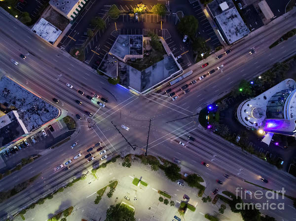 Aerial Art Print featuring the photograph The Spot by David Knapp