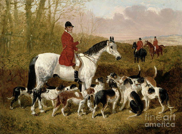 The Art Print featuring the painting The Start by John Frederick Herring Snr