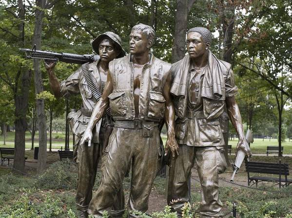 History Art Print featuring the photograph The Three Soldiers By Frederick Hart by Everett