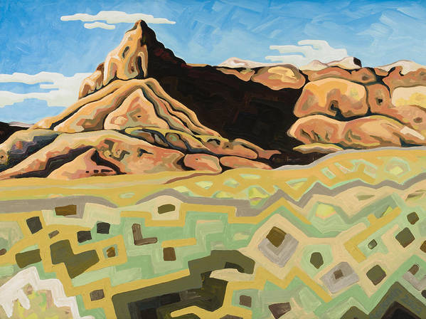 Oil Painting Art Print featuring the painting The Watchtower by Dale Beckman
