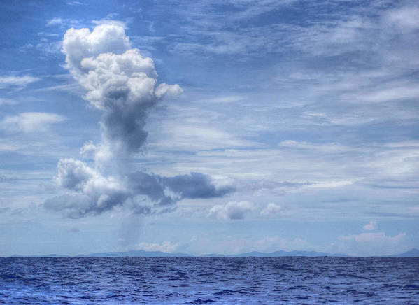 Siargao Art Print featuring the photograph This Is The Philippines No.11 - Towering Clouds by Paul W Sharpe Aka Wizard of Wonders