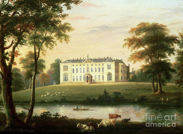 Thorp Print featuring the painting Thorp Perrow Near Snape In Yorkshire by English School