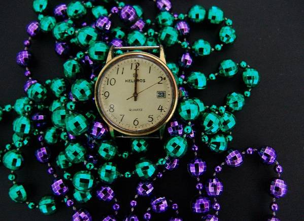 Macro Art Print featuring the photograph Time 2 Party by Florene Welebny