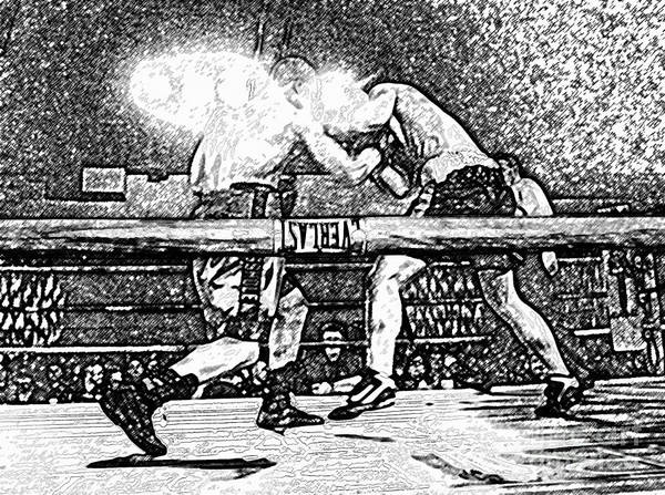 Boxing Art Print featuring the photograph Titans Of The Ring by David Lee Thompson