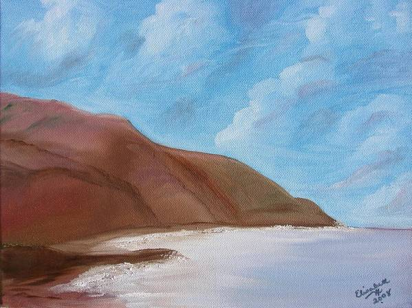 Landscape Art Print featuring the painting Tranquil Ocean by Liz Vernand