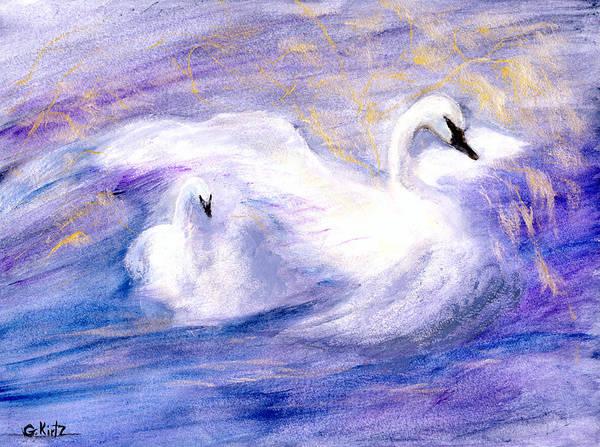 Birds Art Print featuring the painting Transformation by Gail Kirtz