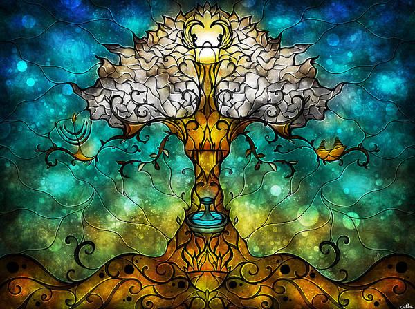 Tree Art Print featuring the digital art Tree Of Life by Mandie Manzano