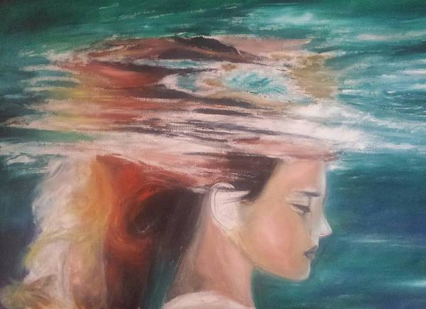 My New Oil Painting On Canvas Art Print featuring the painting Underwater Dream by Homayoun Amani