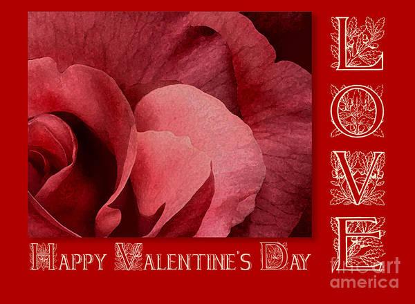 Valentine Art Print featuring the digital art Valentines Day Love by Melissa A Benson