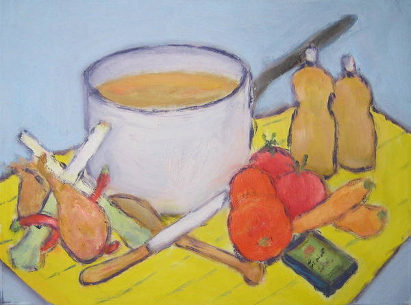 Landscape Art Print featuring the painting Vegetable Soup by Bernard Victor
