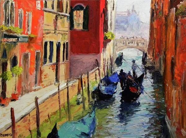 Venice Art Print featuring the painting Venice by Paul Emig