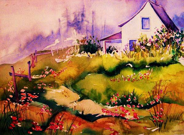 Cottagescenes Art Print featuring the painting Vermont Summers by Carole Spandau