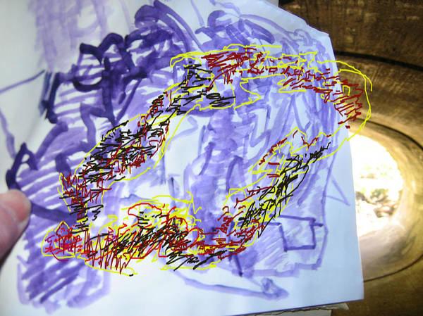 Sculptural Drawing  Abstract Digital Space Art Print featuring the digital art Viavizaviz by Edwin VanGorder