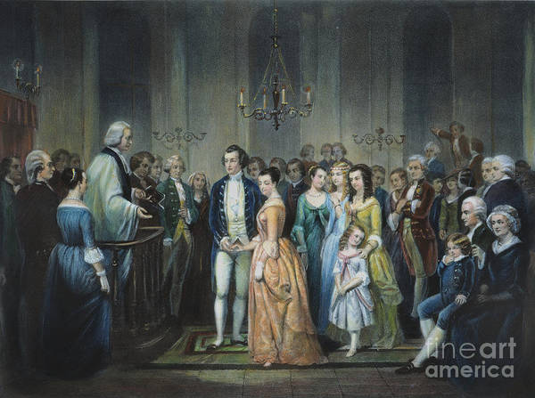 1759 Art Print featuring the photograph Washingtons Marriage by Granger