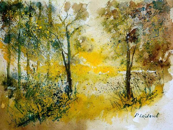 River Art Print featuring the painting Watercolor 210108 by Pol Ledent