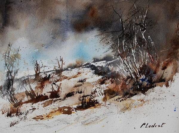 River Art Print featuring the painting Watercolor Jjook by Pol Ledent