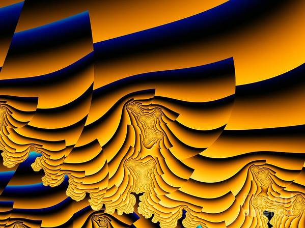 Fractal Image Art Print featuring the digital art Waves Of Grain by Ron Bissett