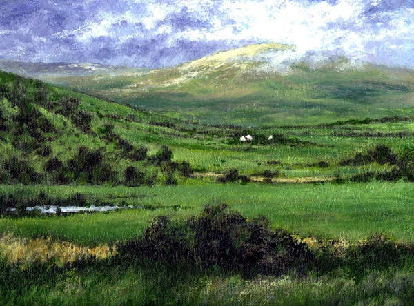 Landcape Art Print featuring the painting Way To Ardara Ireland by Jim Gola