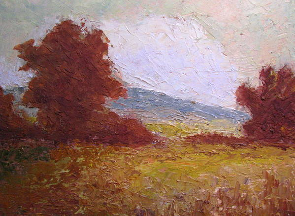 Western Landscape Art Print featuring the painting Westward by Belinda Consten