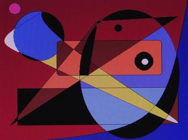 Abstract Bird Art Print featuring the digital art Wild Bird by Ian MacDonald