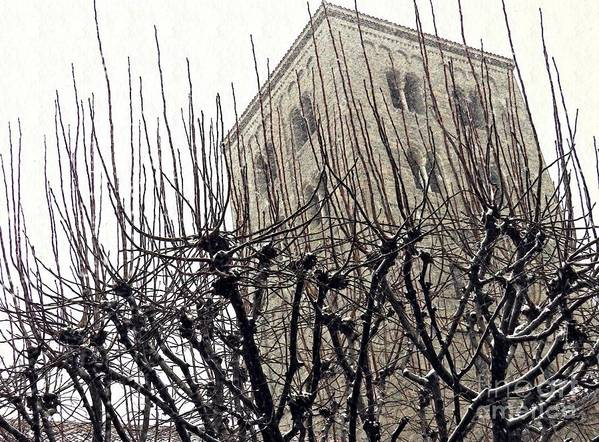 Cloisters Art Print featuring the photograph Winter Storm At The Cloisters 1 by Sarah Loft