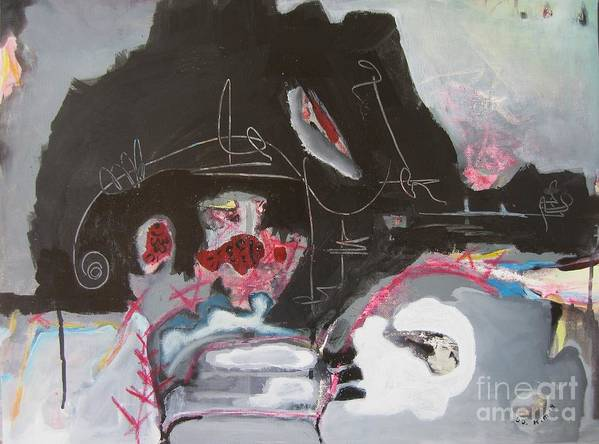 Abstract Paintings Art Print featuring the painting With Little Escape From Life by Seon-Jeong Kim