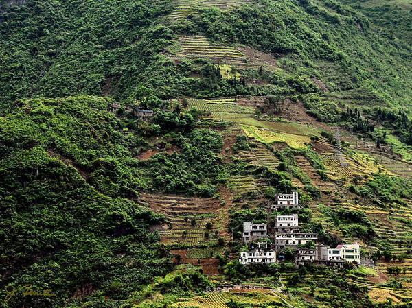 China Art Print featuring the photograph Yangtze Hillside by Joe Bonita