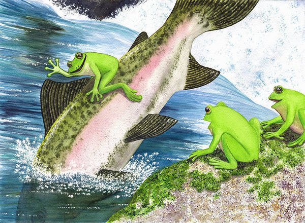Frog Art Print featuring the painting Yee Hah by Catherine G McElroy