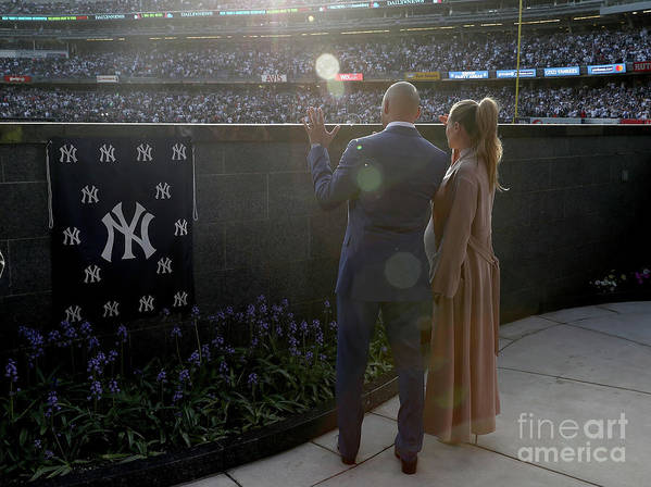 People Art Print featuring the photograph Derek Jeter Ceremony 1 by Elsa
