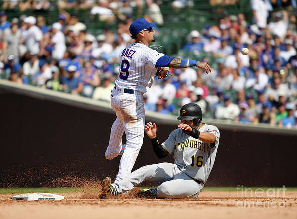 People Art Print featuring the photograph Pittsburgh Pirates V Chicago Cubs 1 by Quinn Harris