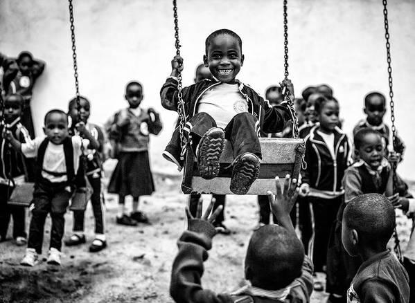 Afrcia Art Print featuring the photograph Children's Playground by Vedran Vidak