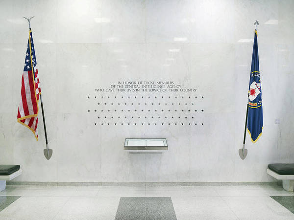 B1019 Art Print featuring the photograph Cia Memorial Wall, 2011 by Granger
