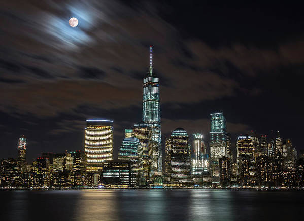 Nyc Art Print featuring the photograph New York City Skyline At Night by Markus Hermannsdorfer