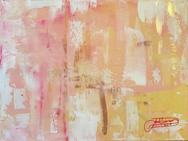Abstract Art Print featuring the painting Peace by Jack Diamond