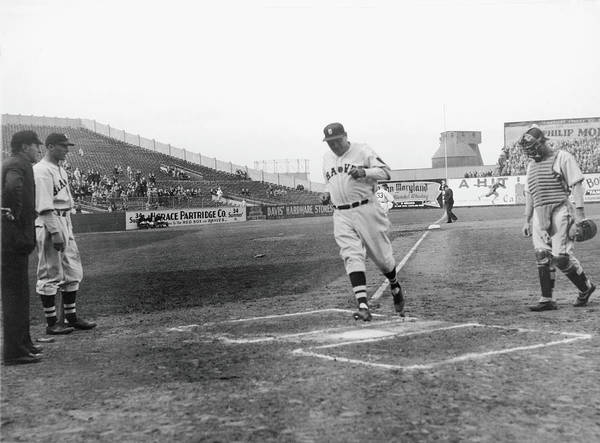 Baseball Cap Art Print featuring the photograph Babe Ruth by Fpg
